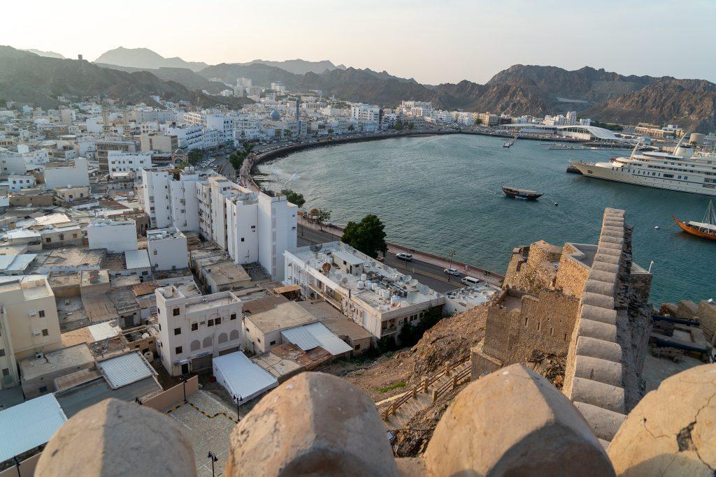 Reisroute Oman - De baai van Muttrah