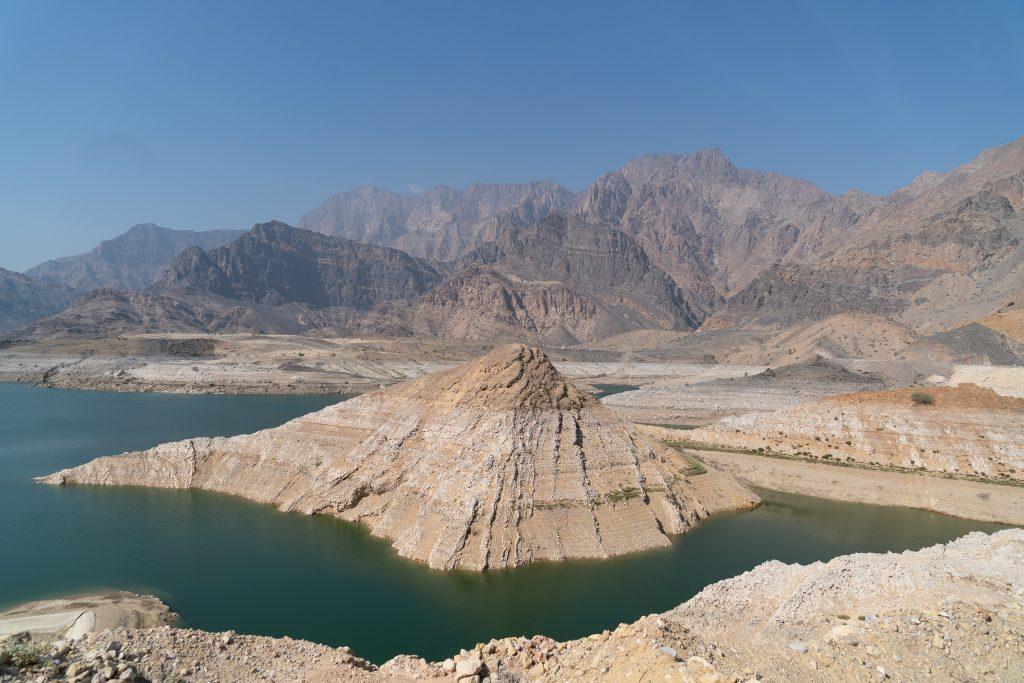 Het stuwmeer van Dayqah Dam
