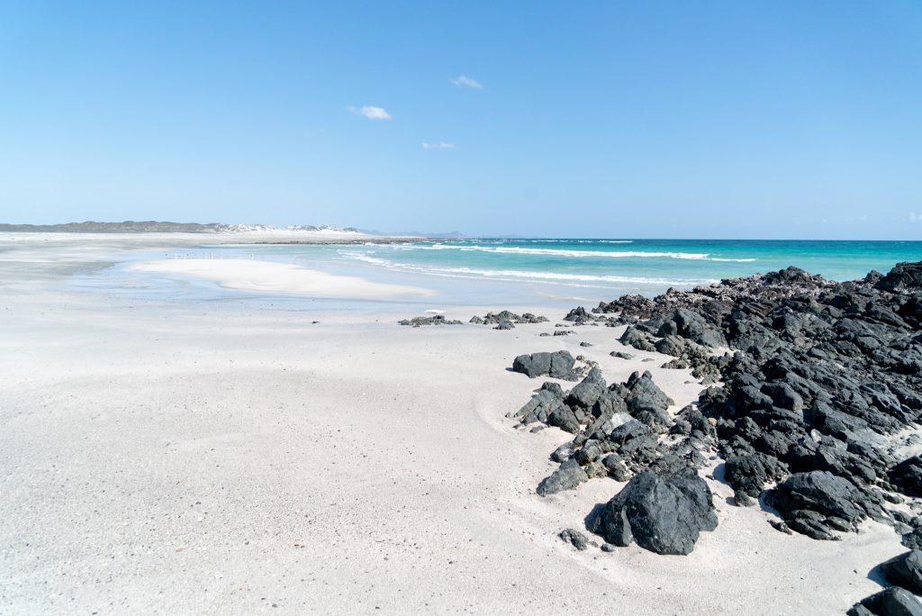 Strand op Masirah eiland
