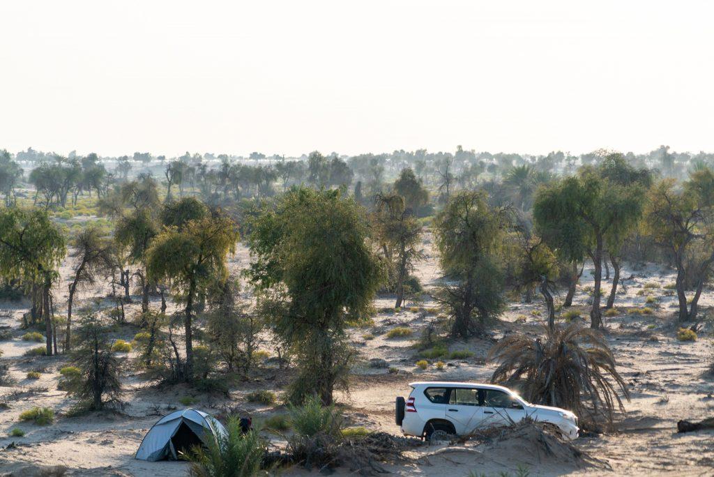 Kamp in de Rub al Khali bij Muqshil