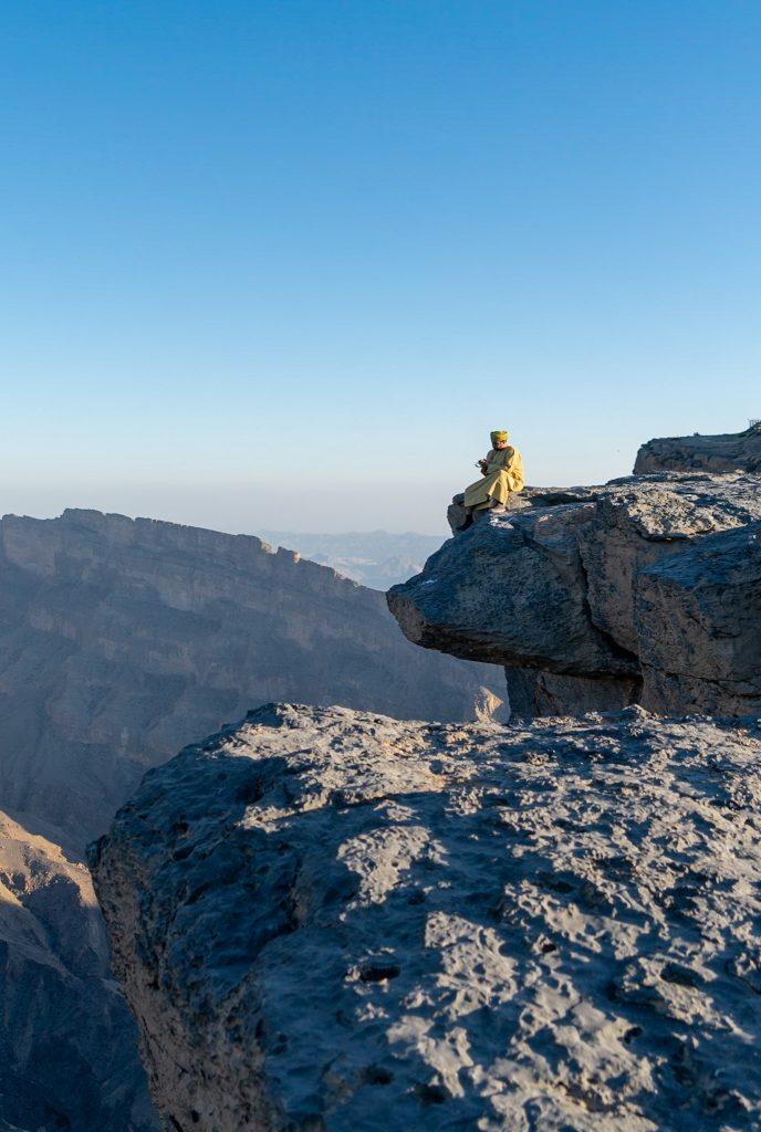 Reisroute Oman - Het uitkijkpunt bij Jebel Shams