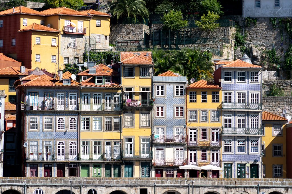 Gevels in Porto